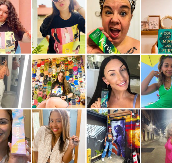 Collage of people showing off their #TargetStyle